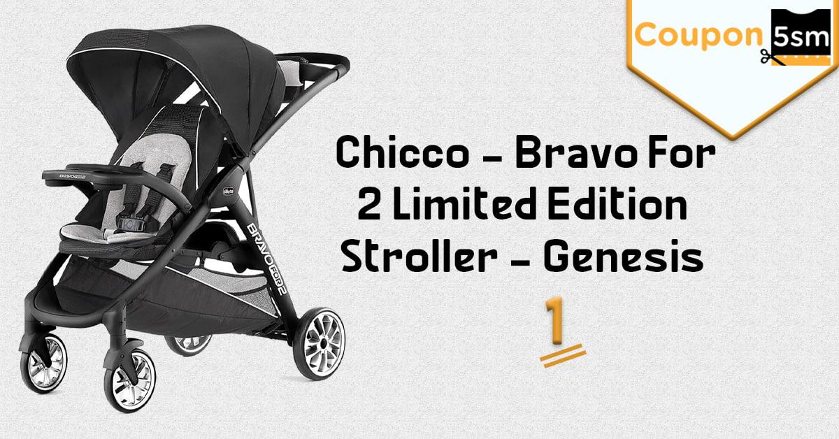 Chicco - Bravo For 2 Limited Edition Stroller - Genesis عربات اطفال