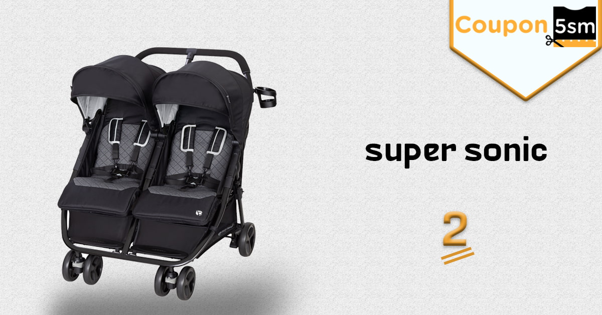 عربة اطفال توأم super sonic