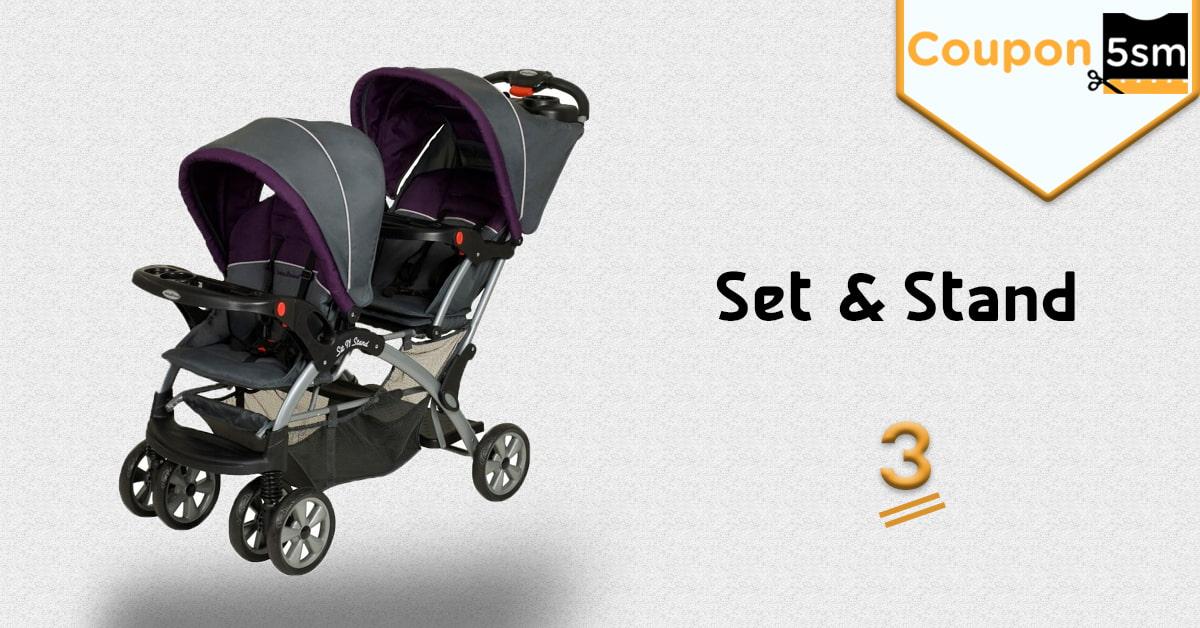 عربة اطفال set & stand