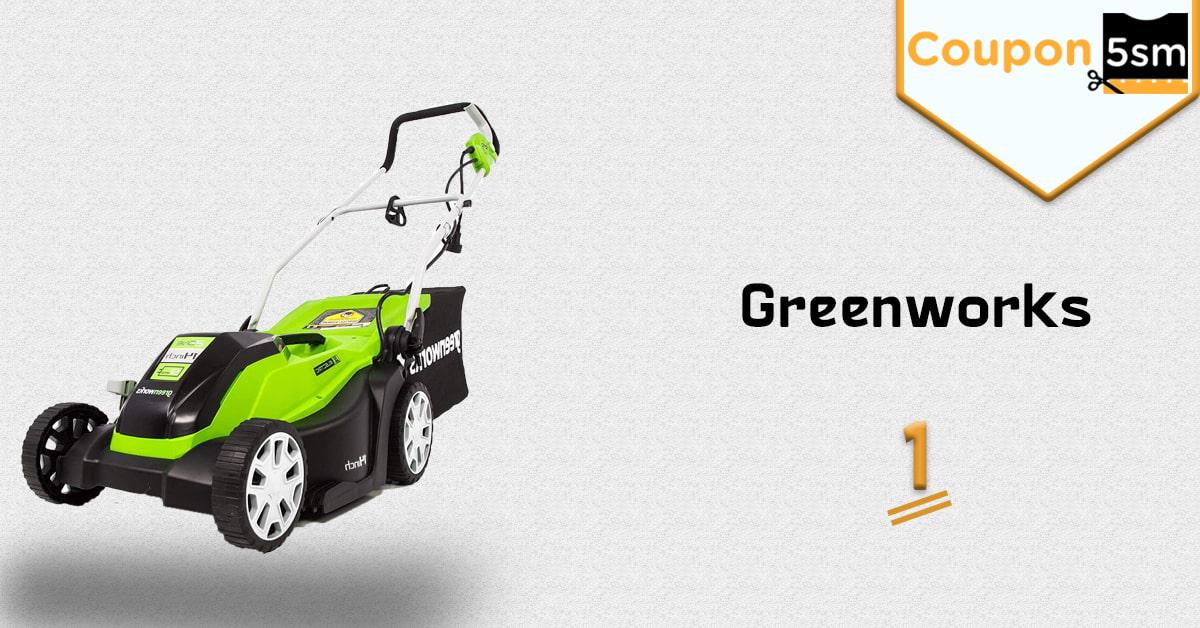 ماكينة قص العشب Greenworks